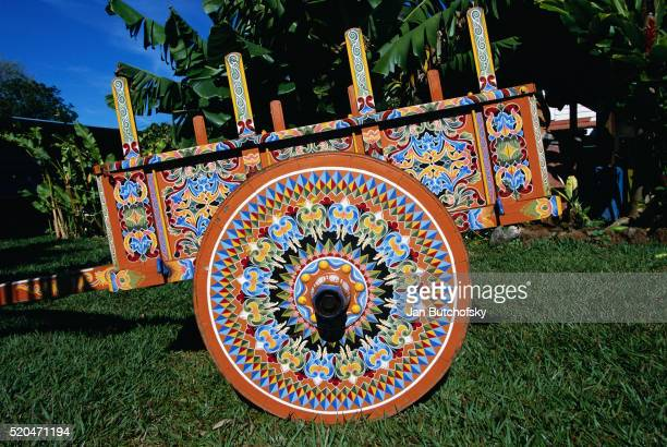 Brightly Painted Ox Cart