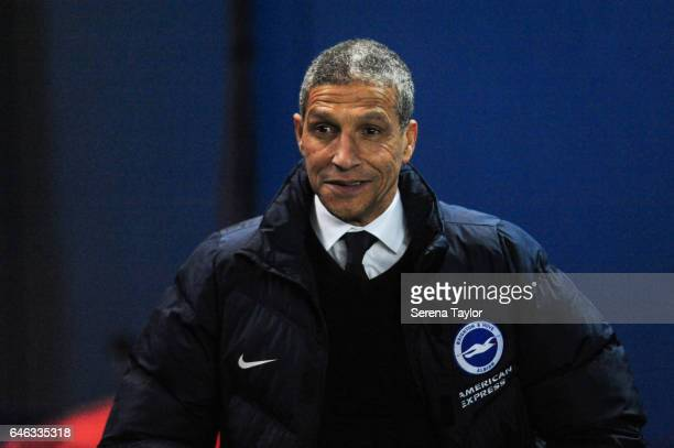 Brighton and Hove Albion Manager Chris Hughton during the Sky Bet Championship Match between Brighton Hove Albion and Newcastle United at Amex...
