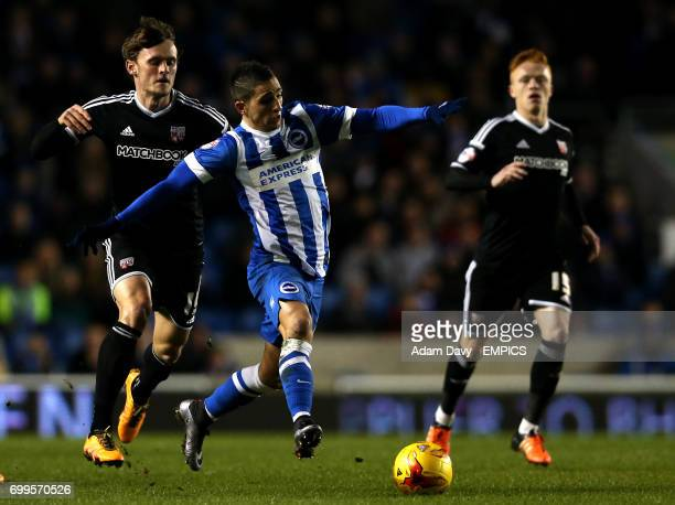 Brighton and Hove Albion's Anthony Knockaert gets away from Brentford's John Swift