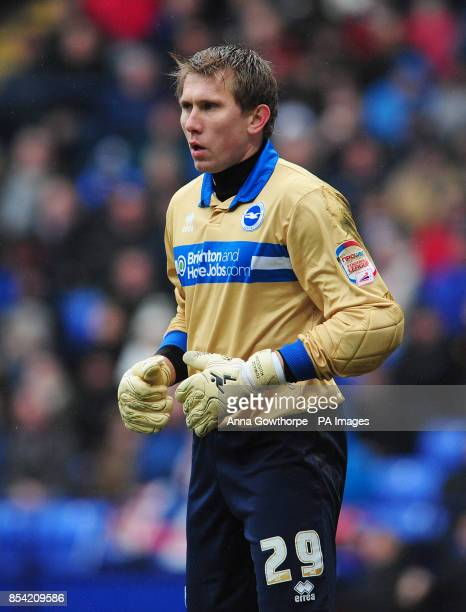 Brighton and Hove Albion's Tomasz Kuszczak during the npower Football League Championship match at The Reebok Stadium Bolton