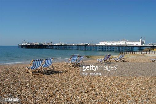 Brighton Beach and Palace Pier