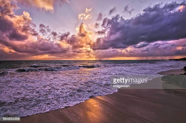 Brighton Beach at sunset, Perth, Australia