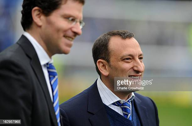 Brighton Hove Albion Chairman Tony Bloom walks the pitch before the npower Championship match between Brighton Hove Albion and Huddersfield Town at...