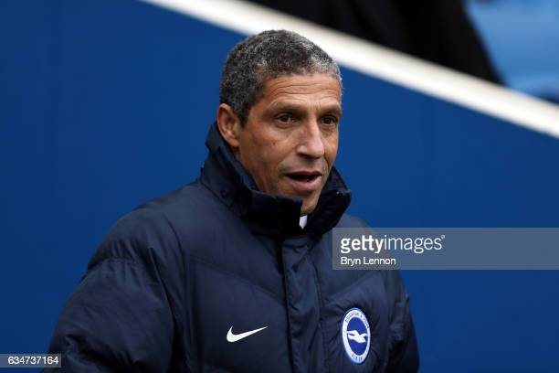 Brighton Hove Albion Manager Chris Hughton looks on prior to the Sky Bet Championship match between Brighton Hove Albion and Burton Albion at Amex...