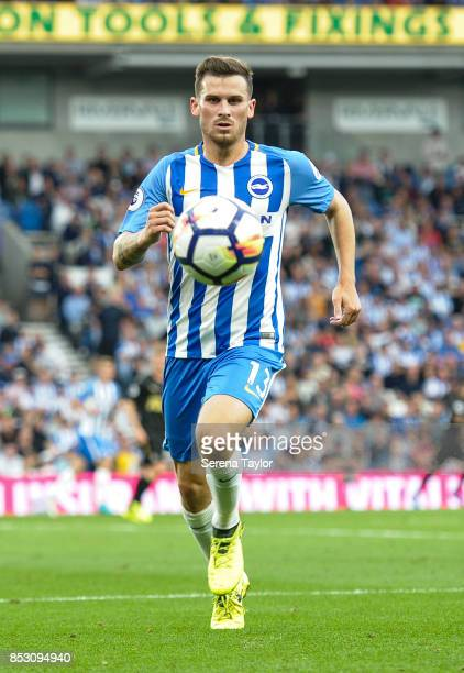 Brighton Hove Albion Midfielder Pascal Gross runs towards the ball during the Premier League match between Brighton and Hove Albion and Newcastle...