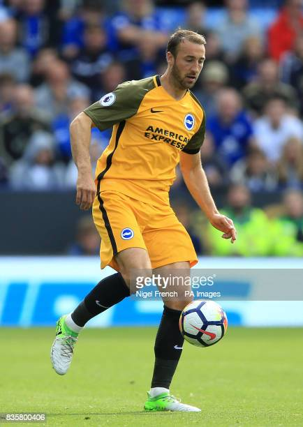 Brighton Hove Albion's Glenn Murray during the Premier League match at the King Power Stadium Leicester