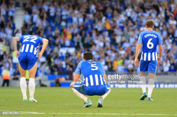 Brighton Hove Albion's Lewis Dunk after the final whistle during the Premier League match at the AMEX Stadium Brighton