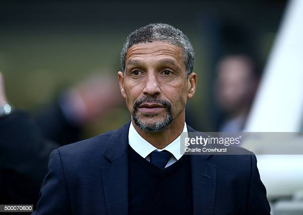 Brighton manager Chris Hughton during the Sky Bet Championship match between Brighton and Hove Albion and Charlton Athletic at The Amex Stadium on...