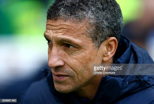 Brighton manager Chris Hughton during the Sky Bet Championship match between Brighton and Hove Albion and Bolton Wanderers at The Amex Stadium on...