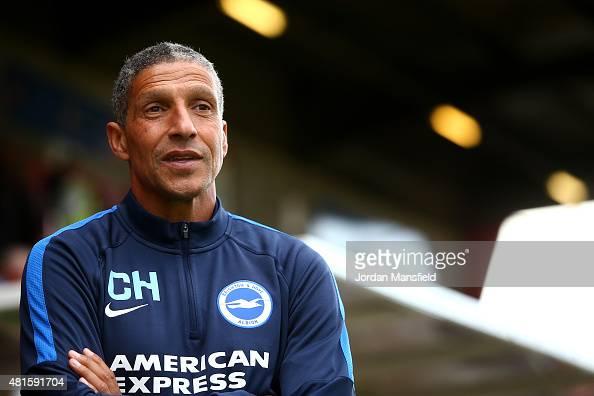 Brighton manager Chris Hughton looks on ahead of the Pre Season Friendly between Crawley Town and Brighton Hove Albion at the Checkatradecom Stadium...