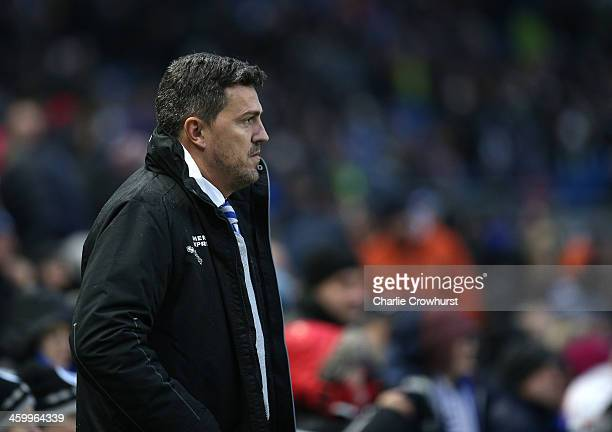 Brighton manager Oscar Garcia during the Sky Bet Championship match between Brighton Hove Albion and AFC Bournemouh at The Amex Stadium on January 01...