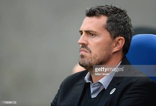Brighton manager Oscar Garcia looks on during the Capital One Cup First Round match between Brighton Hove Albion and Newport County at Amex Stadium...