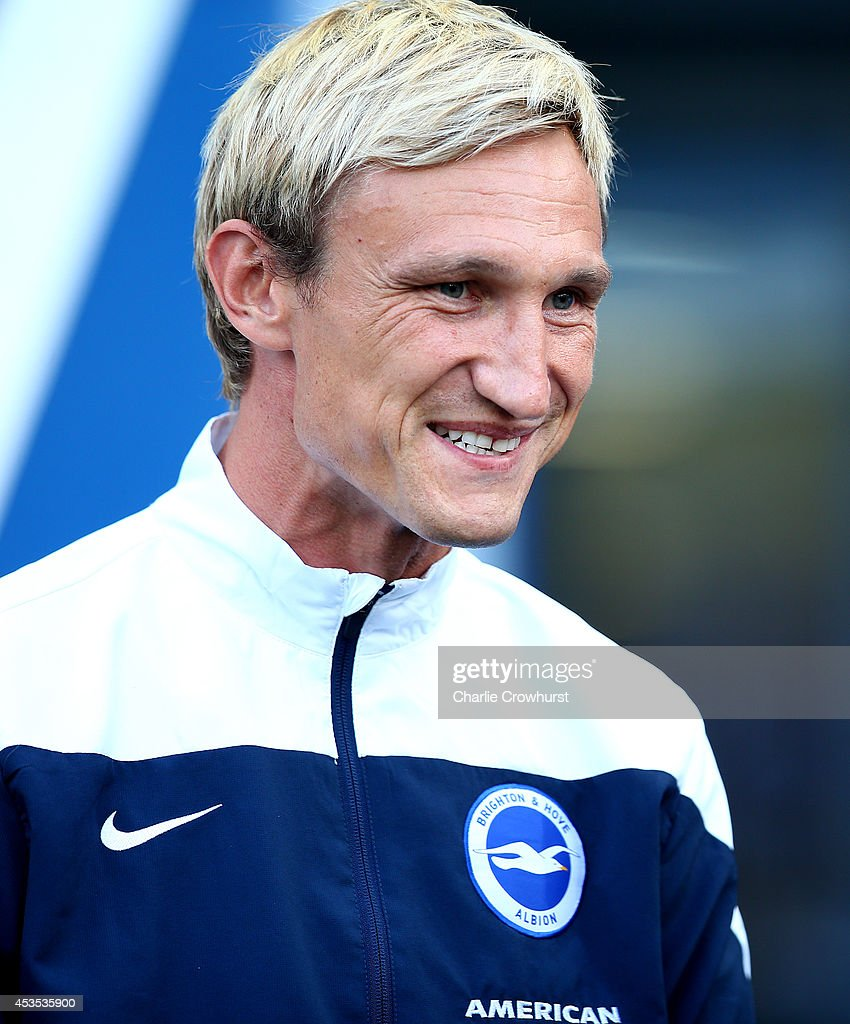 Brighton manager Sami Hyypia during the Capital One Cup First Round match between Brighton Hove Albion and Cheltenham Town at The Amex Stadium on...