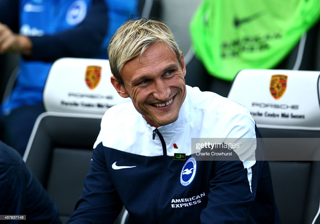 Brighton manager Sami Hyypia during the Sky Bet Championship match between Brighton Hove Albion and Rotherham United at The Amex Stadium on October...