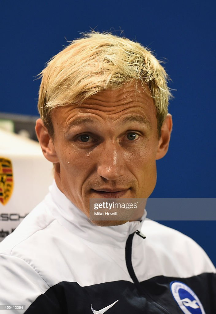 Brighton manager Sami Hyypia looks on during the Sky Bet Championship match between Brighton Hove Albion and Cardiff City at Amex Stadium on...