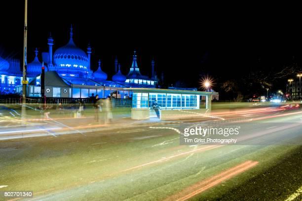 Brighton Pavilion City Street at Night