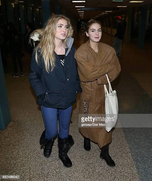 Brighton Sharbino and Saxon Sharbino are seen on January 22 2017 in Salt Lake City Utah