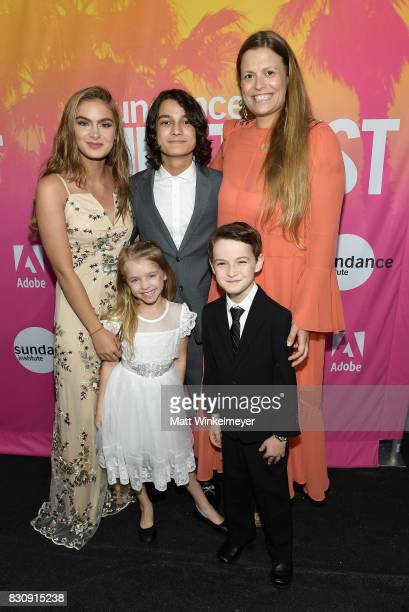 Brighton Sharbino Kingston Foster Rio Mangini Jason Maybaum and Marianna Palka attend 2017 Sundance NEXT FEST at The Theater at The Ace Hotel on...