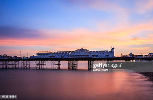 Brighton - the Palace Pier at sunset