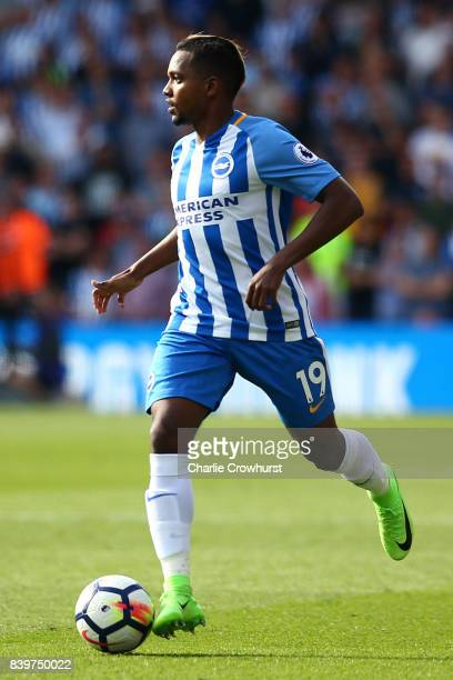 Brighton's Jose Izquierdo during the Premier League match between Watford and Brighton and Hove Albion at Vicarage Road on August 26 2017 in Watford...
