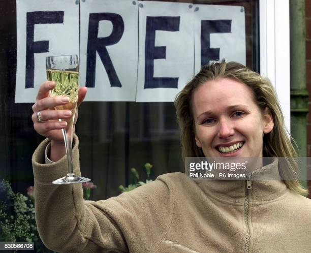 Brigid Thorns girlfriend of Tim Selby celebrates his release outside the family home near Oldham Greater Manchester Tim Selby and two Danes have been...