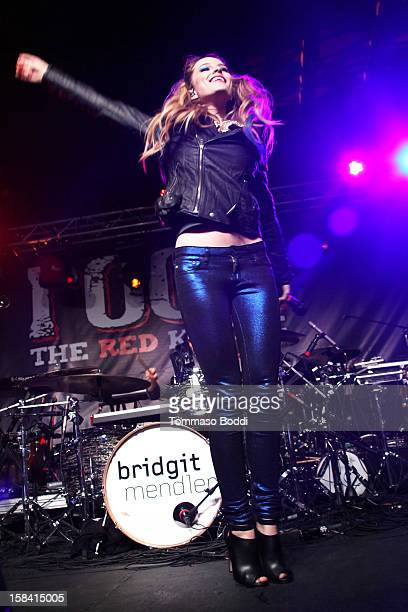 Brigit Mendler performs at the Salvation Army's 3rd annual Rock the Red Kettle concert held at the Nokia Theatre LA Live on December 15 2012 in Los...