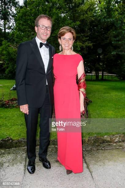 Brigitta Pallauf and her husband Michael Pallauf during the International Salzburg Association Gala on July 26 2017 in Salzburg Austria