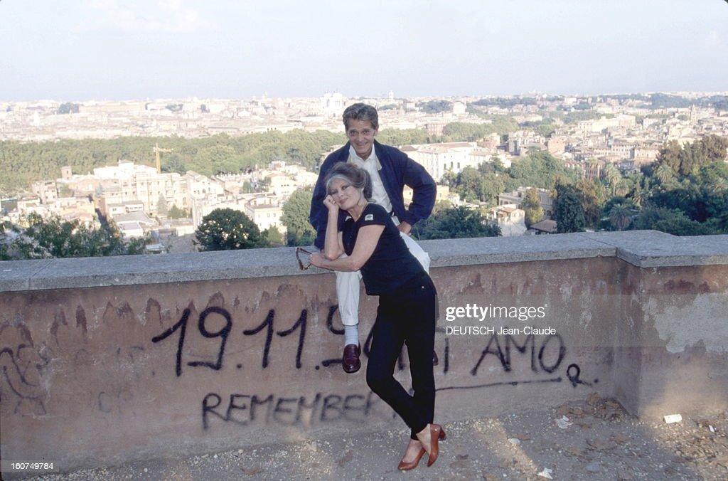 Brigitte Bardot And Bernard D'ormale In Rome. Bernard d'ORMALE avec son épouse Brigitte BARDOT à Rome. Octobre 1995.