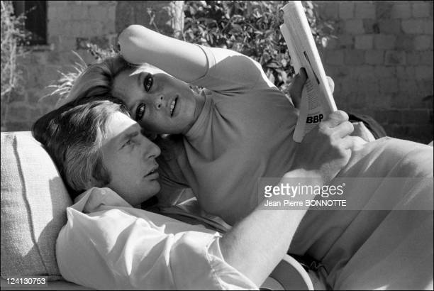Brigitte Bardot and Gunther Sachs at home In Rome Italy In May 1967