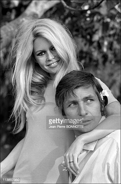 Brigitte Bardot and Gunther Sachs at Home in Rome1967