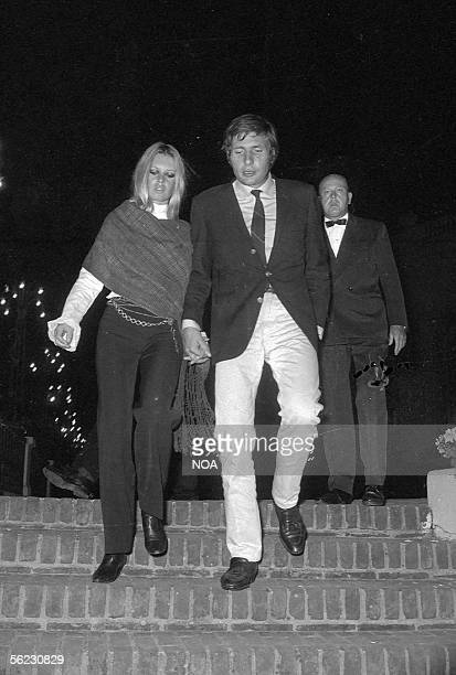 Brigitte Bardot and Gunther Sachs Deauville September 15 1967 HA121417