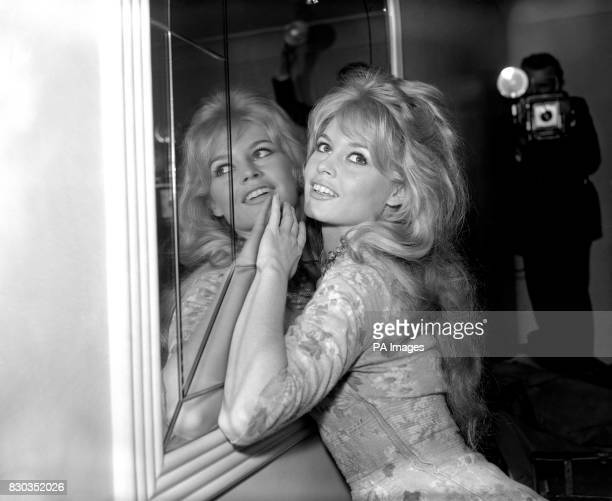 Brigitte Bardot at a London Hotel during a photocall after arriving in from Paris to start location shooting for her latest movie 'Babette Goes to...