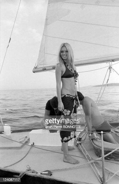 Brigitte Bardot In Saint Tropez France In August 1968