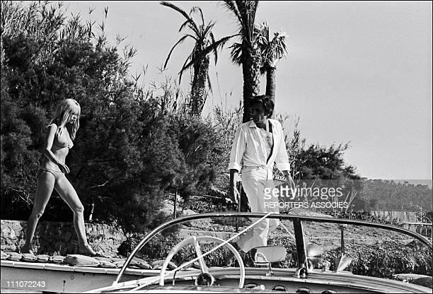 Brigitte Bardot With Gunther Sachs In Saint Tropez France On August 1966