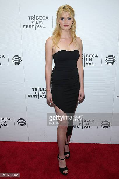 Brigitte Bertrand attends the Tribeca Film Festival Shorts Warped Speed at Regal Battery Park Cinemas on April 16 2016 in New York City
