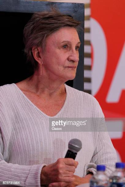 Brigitte Broch looks on during a press conference as part of Giff 2017 Activities on July 27 2017 in Guanajuato Mexico