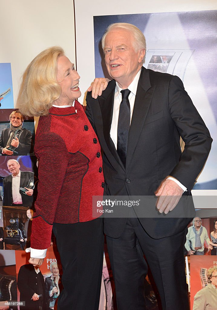 Brigitte Fossey and Andre Dussolier attend the 'Henri Langlois' 10th Award Ceremony At Unesco In Paris on March 30 2015 in Paris France