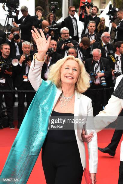 Brigitte Fossey attends 'Amant Double ' Red Carpet Arrivals during the 70th annual Cannes Film Festival at Palais des Festivals on May 26 2017 in...