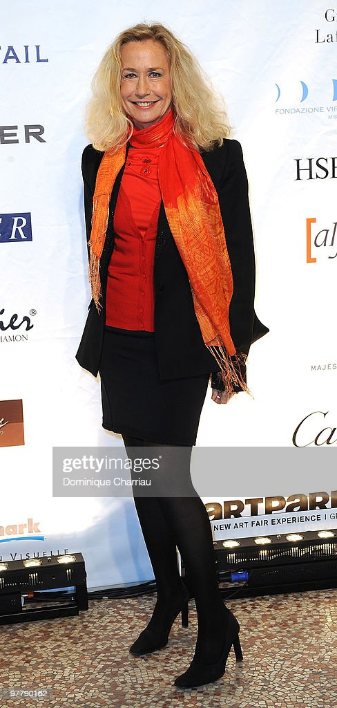 Brigitte Fossey attends the Association Dessine l'Espoir charity dinner during Art Paris exhibition launch at Grand Palais on March 16 2010 in Paris...