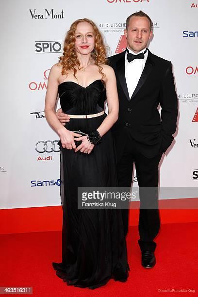 Brigitte Hobmeier and Maximilian Brueckner attend the German Film Ball 2014 on January 18 2014 in Munich Germany