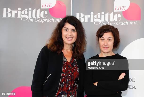 Brigitte Hubert and Zsuzsa Bank during the BRIGITTE LIVE at the Frankfurt Book Fair on October 15 2017 in Frankfurt am Main Germany The 2017 fair...