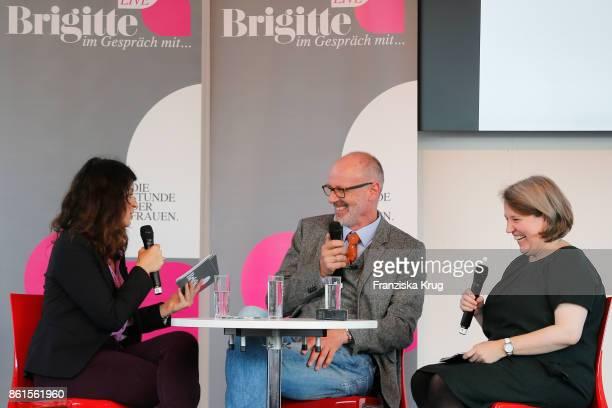 Brigitte Hubert Peter Wohlleben and Meike Schnitzler during the BRIGITTE LIVE at the Frankfurt Book Fair on October 14 2017 in Frankfurt am Main...