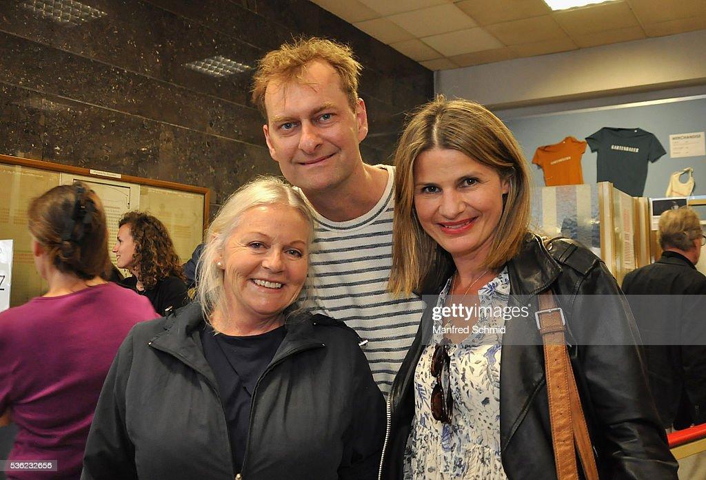 Brigitte Kren, Alexander Jagsch and Doris Hindinger (L-R) attend the 'Vor der Morgenroete' Vienna Premiere at Gartenbau Kino Vienna on May 31, 2016 in Vienna, Austria.