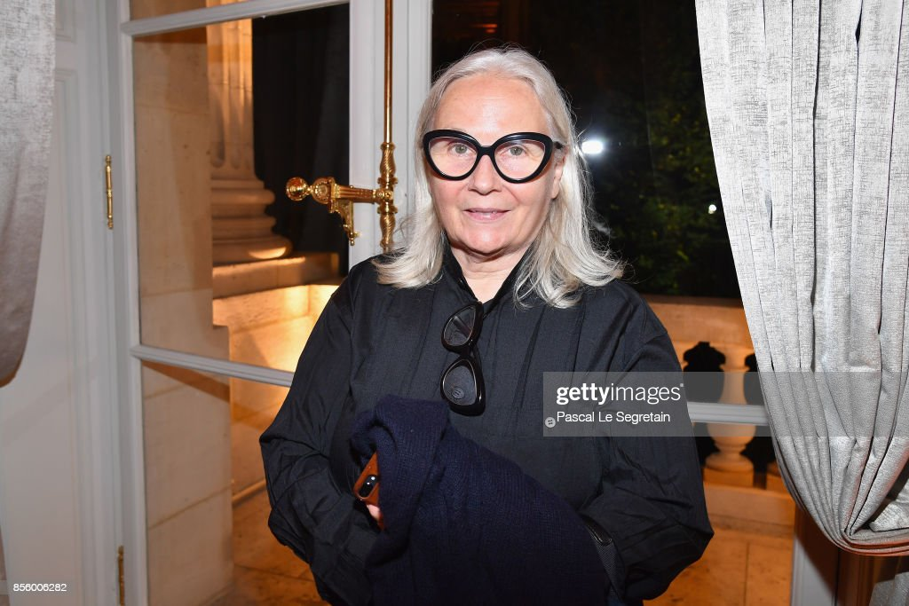 Brigitte Lacombe attends the Buro 24/7 X Farfetch Fashion Forward Initiative as part of the Paris Fashion Week Womenswear Spring/Summer 2018 at Hotel Crillon on September 30, 2017 in Paris, France.