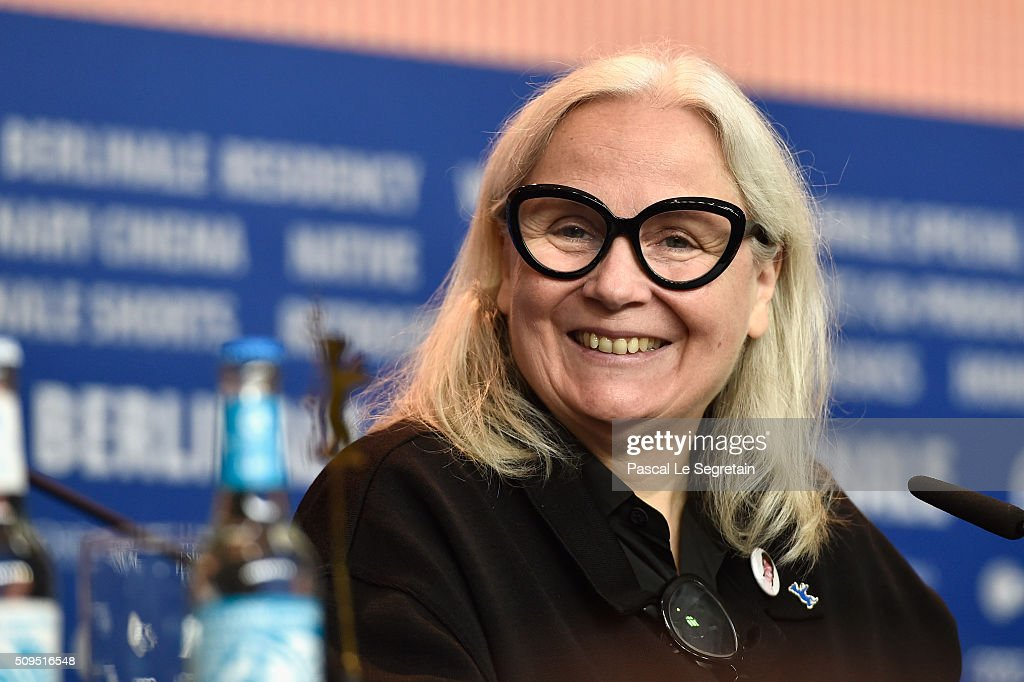 Brigitte Lacombe attends the International Jury press conference during the 66th Berlinale International Film Festival Berlin at Grand Hyatt Hotel on February 11, 2016 in Berlin, Germany.