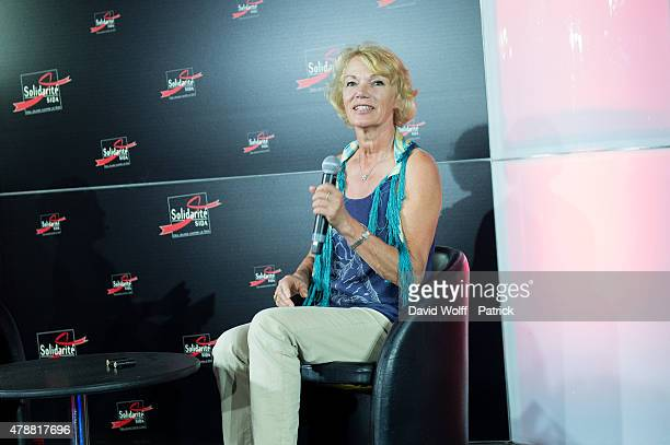 Brigitte Lahaie attends Sex Conference at Solidays Festival on June 27 2015 in Paris France