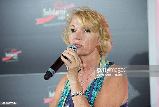 Brigitte Lahaie attends Sex Conference during Solidays Festival on June 27 2015 in Paris France