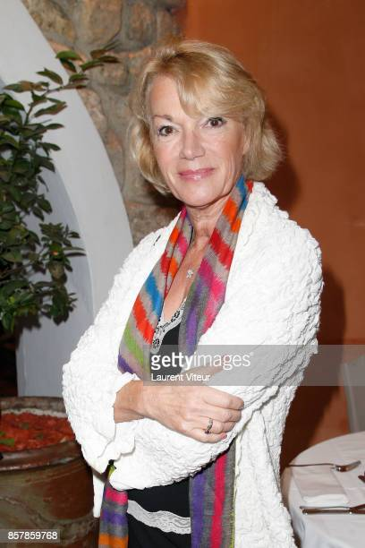 Brigitte Lahaie attends 'Sud Radio' Press Conference at Brasserie 'Le Sud' on October 5 2017 in Paris France