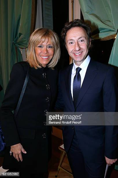 Brigitte Macron and founder Stephane Bern attend Stephane Bern's Foundation for 'L'Histoire et le Patrimoine Institut de France' delivers its 2016...