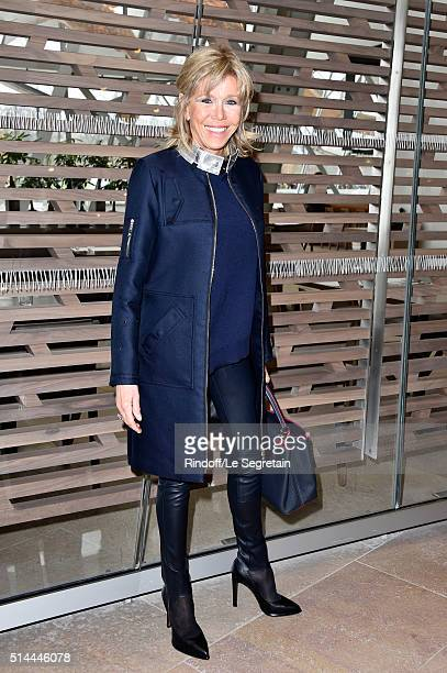 Brigitte Macron attends the Louis Vuitton show as part of the Paris Fashion Week Womenswear Fall/Winter 2016/2017 on March 9 2016 in Paris France